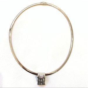 Jewelry - 14K Two Tone Gold Diamond Necklace